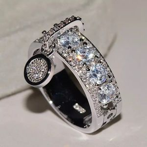 Jewelry - Platinum plated simulated diamond ring